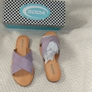 Lavender Strappy Sandals